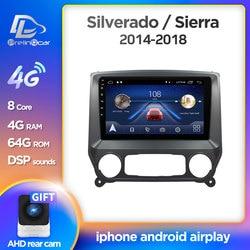 Prelingcar Android 10 For Chevrolet Silverado GMC sierra 2014-2018 Car Radio Multimedia Video Player GPS Navigation NO DVD 2DIN