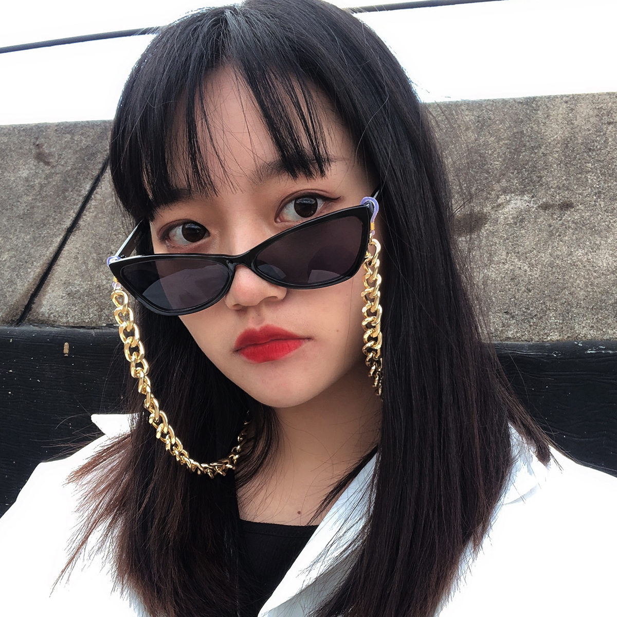 Steampunk Reading Glasses Aluminum Sunglasses Chain Holder Cord Lanyard Metal Neck Strap Lanyard Eyewears Glasses Accessories