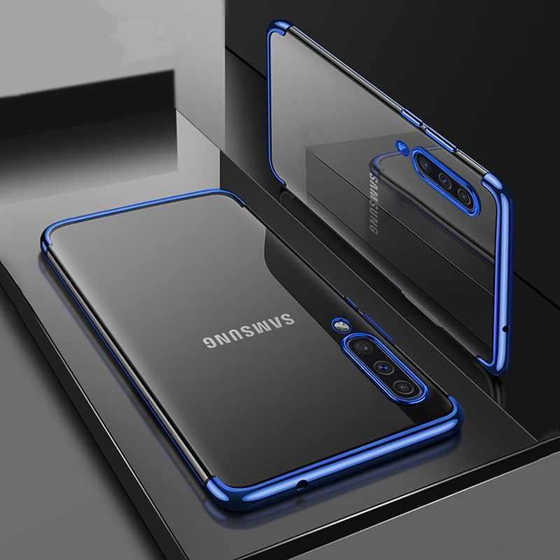 Kaplama TPU Samsung kılıfı Galaxy A70 A50 A40 A30 M30 M20 M10 şeffaf yumuşak silikon İnce arka kapak Samsung not 8 için s8