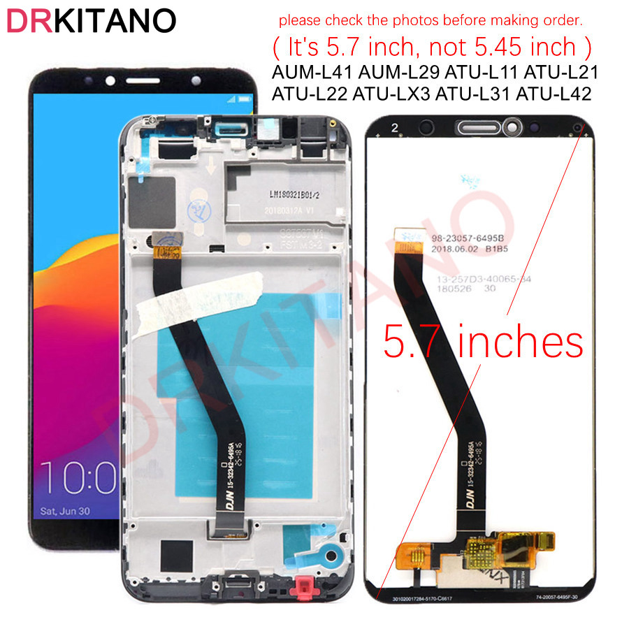 DRKITANO Display For Huawei Honor 7C LCD Display Touch Screen For Honor 7A Pro Display With Frame Replacement AUM L41 L29 L33|Mobile Phone LCD Screens|   - AliExpress