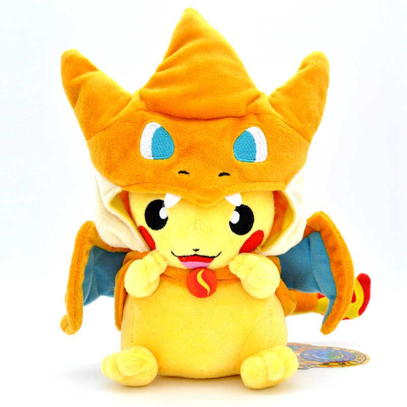 23cm Takara Tomy PFairy tesoro sueño Pokemon mascota Hada XY versión fuego respiración dragón tamaño pequeño Bika Super de felpa muñeca de juguete