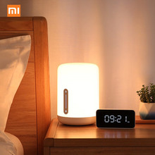 цена на Xiaomi Mijia Bedside Lamp 2 Smart Table LED Light voice control touch switch Mi home app Led bulb For Apple Homekit Siri