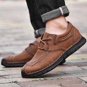 Image 5 - Мужские кожаные туфли в стиле ретро
