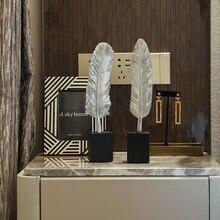 Estilo nórdico criativo pena estante ornamentos simples moderna casa sala de estar decoração artesanato