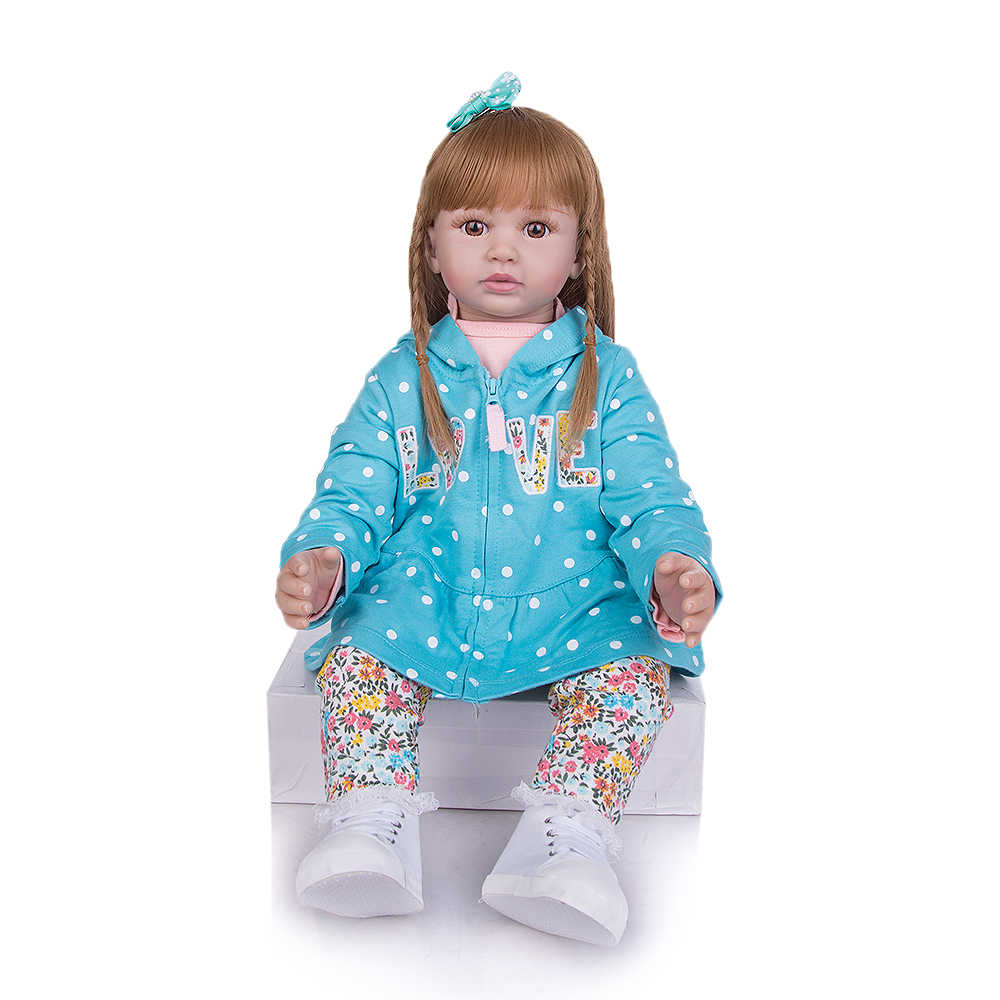 KEIUMI 24 Cal moda Reborn lalki dla dzieci tkaniny ciało peruka dziewczynka nowy projekt lalki prezenty dla dzieci i ty kochanek