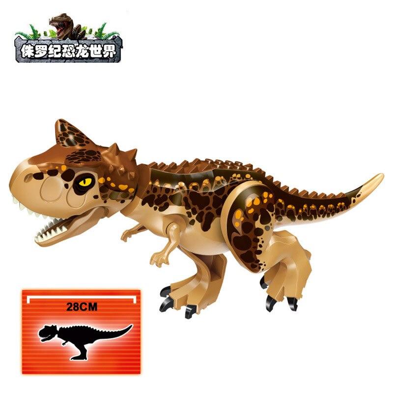 Dinosaurs Park Jurassic World 2 Dinosuar Tyrannosaurus Rex Building Blocks Bricks My Animal Figures Toys For Children Gift in Blocks from Toys Hobbies