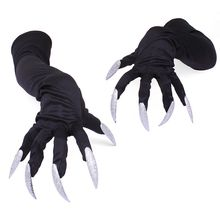 Halloween Costume Gloves with Nails Fingernails Claws