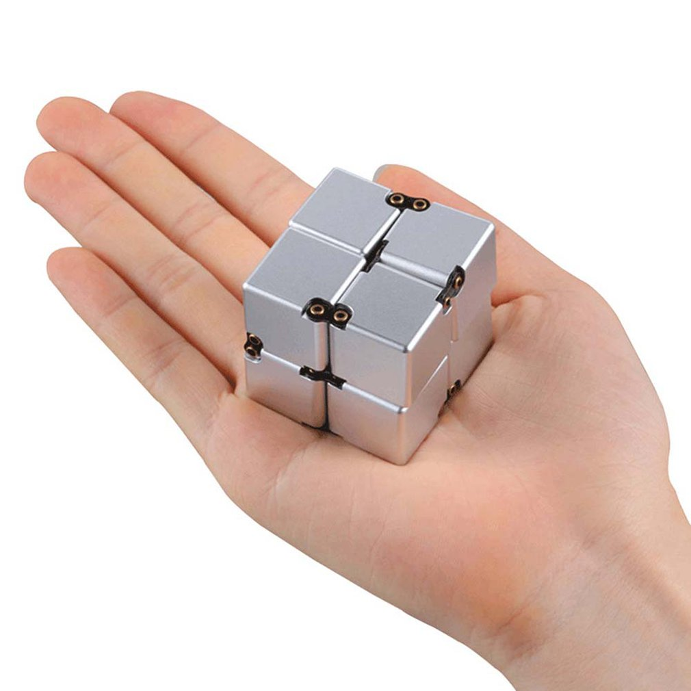Infinity Cube Fidget Toys Fidget Block Mini Stress Anxiety Release Adults Kids Desktop Toys Helps Concentration