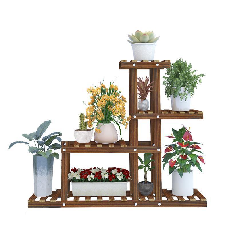 Madera Plantenstandaard Balkon Estanteria For Estante Para Plantas Outdoor Stand Flower Dekoration Stojak Na Kwiaty Plant Shelf