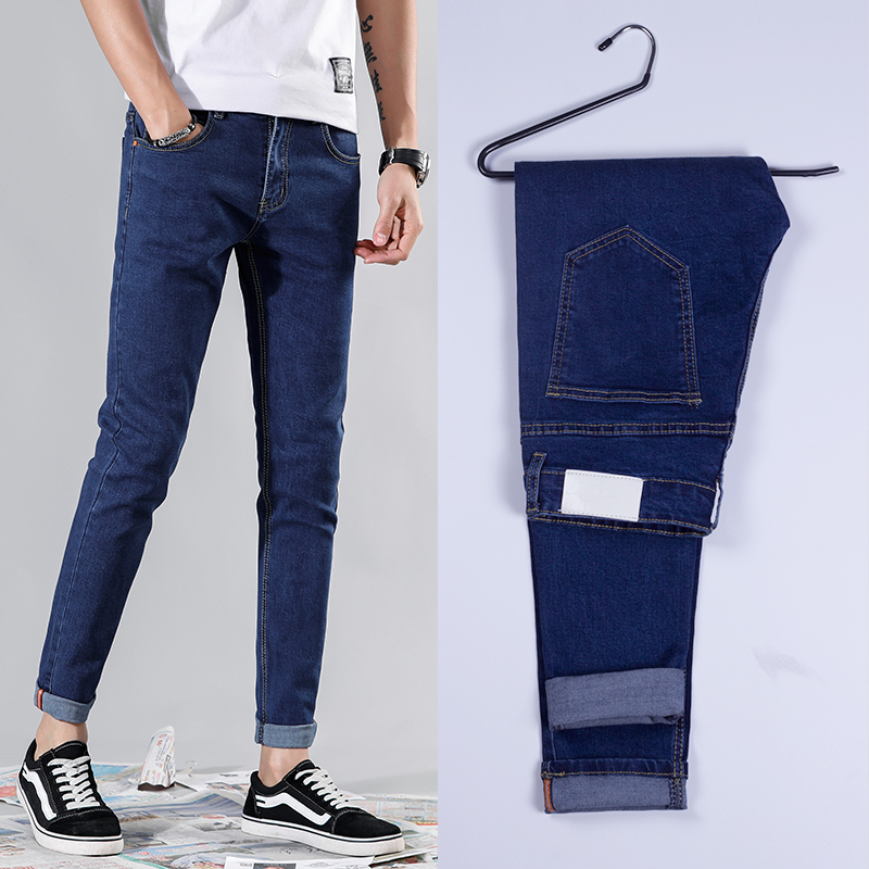 Good Quality 4 Colors Skinny Jeans Men Spring Summer Slim Denim Jeans Men Cotton Elastic Denim Pants Cowboy Trousers