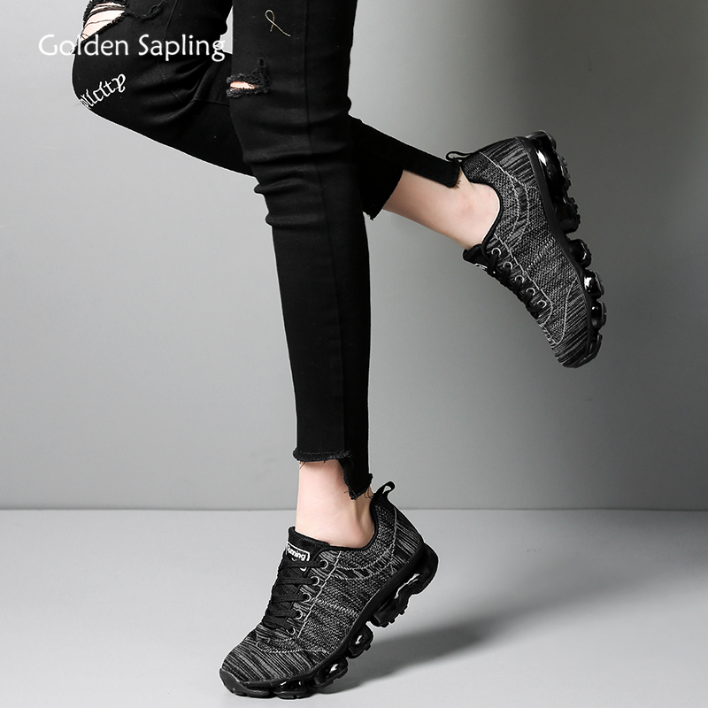 Golden Sapling Air Cushion Women's Sneakers For GYM Training Breathable Fabric Running Shoes Women Fitness Sports Shoe Plus Size