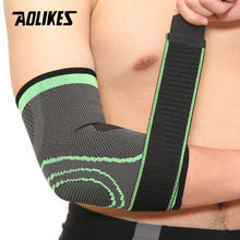 AOLIKES 1PCS Elastic Bandage Tennis Elbow Support Protector Basketball Running Volleyball Compression Adjustable Elbow Pad Brace(China)