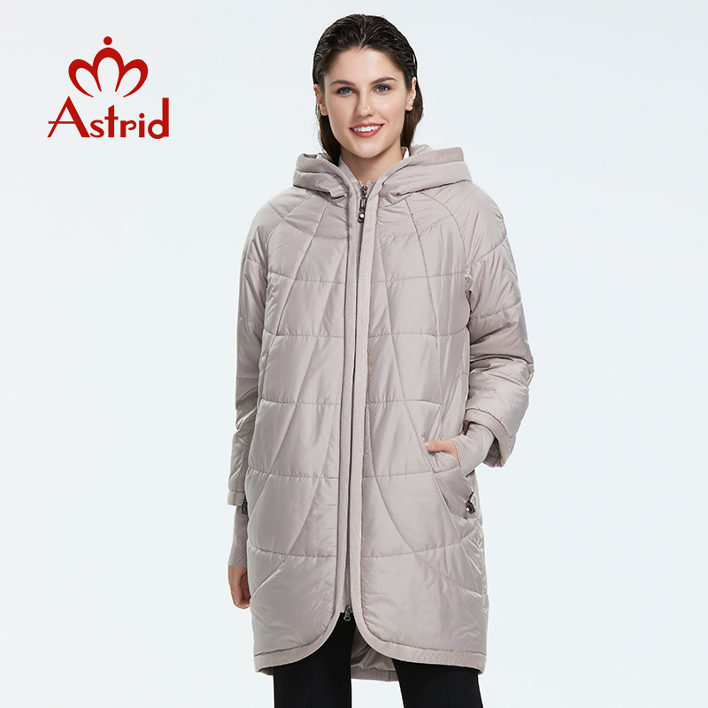 Astrid 2019 Winter New Arrival Down Jacket Women Outerwear High Quality Mid-length Fashion Slim Style Winter Coat Women AM-2075