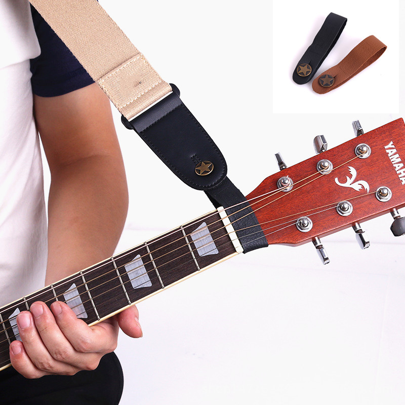 Leather Guitar Strap Holder Button Safe Lock With Strong Metal Fastener For Acoustic Electric Classic Guitar Accessories Parts