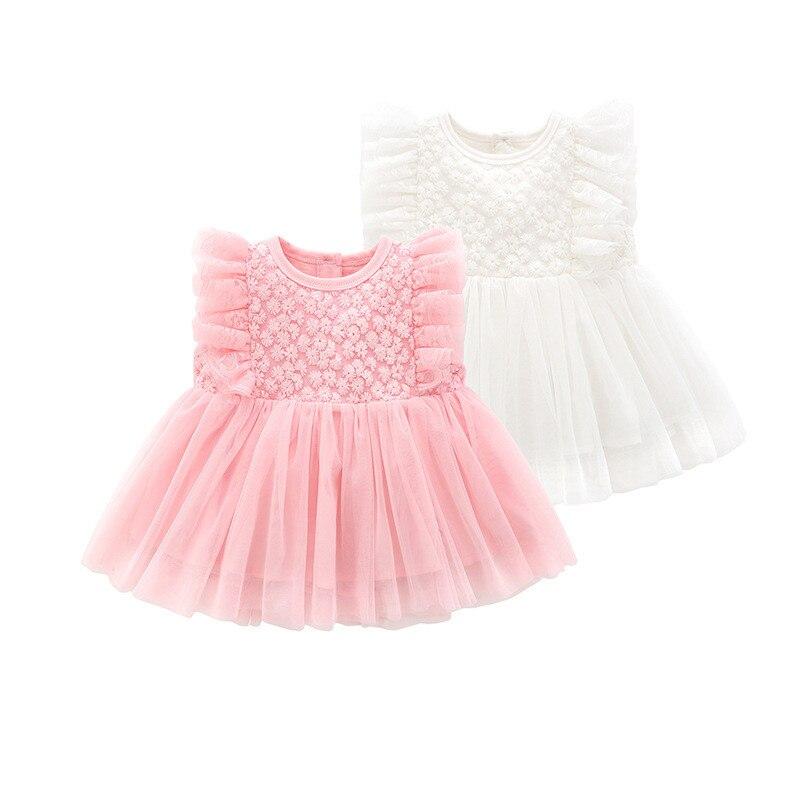 Nowonarodzone dziecko sukienki dla dziewczynek księżniczka sukienki dla dziewczynek bawełniane koronki ślub urodziny 1 rok dla starszych kobiet ubrania letnie białe sukienki