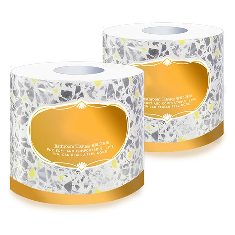 10 Rolls Toilet Paper 3-ply Bath Tissue Bathroom White Soft For Home Hotel Public HSJ88