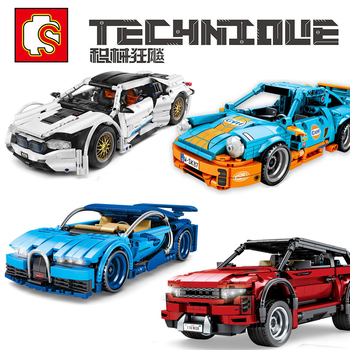 SEMBO Racing Car Technic City MOC Car Sport Car SUV Off-road Vehicles Building Block Model Bricks Set Toys For Children Boy Gift new sembo block engineering city construction container truck fit technic building blocks toys bricks toys for children kid gift