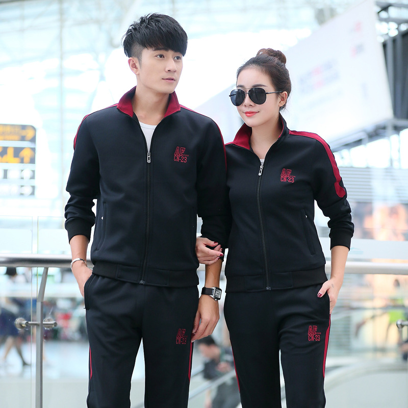 Sports Set Men's Spring And Autumn Sports Clothing Women's Casual Couples Set Running Fitness Sports Clothing Two-Piece Set