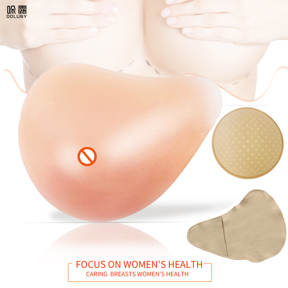 Silicone Breast Form Supports Artificial Spiral Silicone Chest Fake False Breast Prosthesis 150g-500g Super Soft Sponge Pad D30