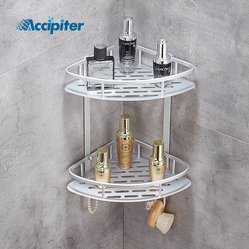 Bathroom Shelf Shower Shampoo Soap Cosmetic Shelves Bathroom Accessories Storage Organizer Rack Holder image