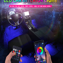 Car-Foot-Ambient-Light Interior Decorative Led USB Music-Control-App Rgb Auto Backlight