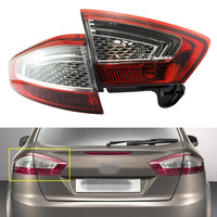 2Pcs Left Side Taillight Rear Lights Tail Lamps Inner & Outer for Ford Mondeo Fusion 2011 2012