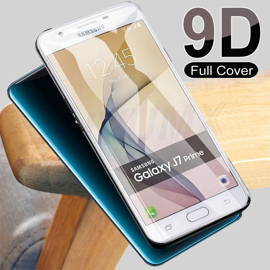 9D Full Cover Glass For Samsung Galaxy J5 J7 Prime J2 J4 Core Screen Protector For Samsung A3 A5 A7 J3 J5 J7 2017 S7 Glass Film
