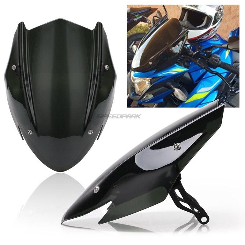 Free Shipping For Suzuki GSX-S750 GSXS750 GSX-S GSXS 750 2017-2019 Motorcycle Windscreen Windshield Shield Screen With Bracket