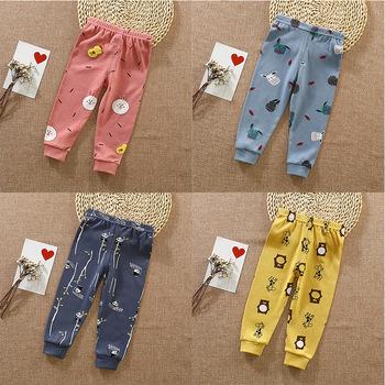 Spodnie dla niemowląt długie spodnie jesień wiosna dziewczynek chłopców legginsy noworodka odzież bawełniana odzież dla dzieci odzież z nadrukiem kreskówki dla niemowląt spodnie dla dzieci tanie i dobre opinie COTTON wax911