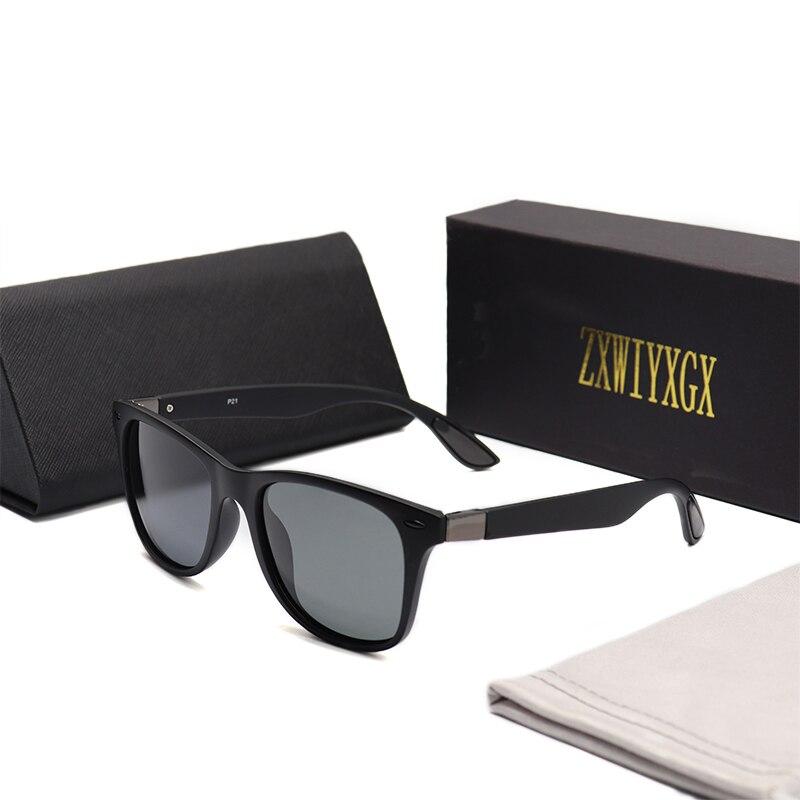 ZXWLYXGX Gafas De Sol polarizadas clásicas De diseño De marca Gafas De Sol para hombres y mujeres con montura cuadrada Gafas De Sol Gafas para hombres Gafas De Sol UV400