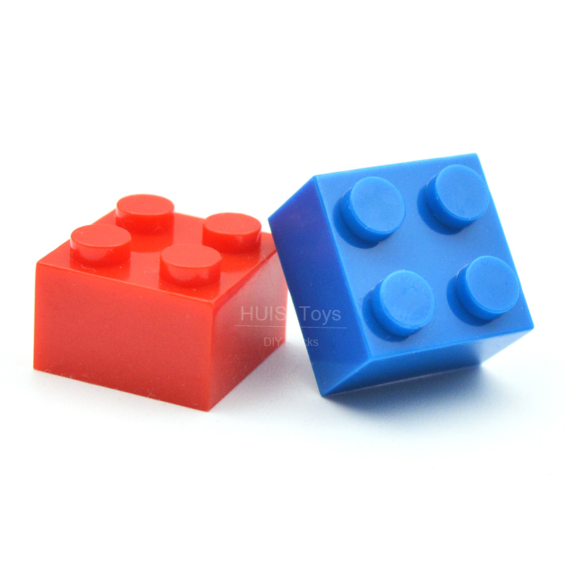 New LEGO Lot of 12 Blue 2x2 Basic Building Block Brick Pieces