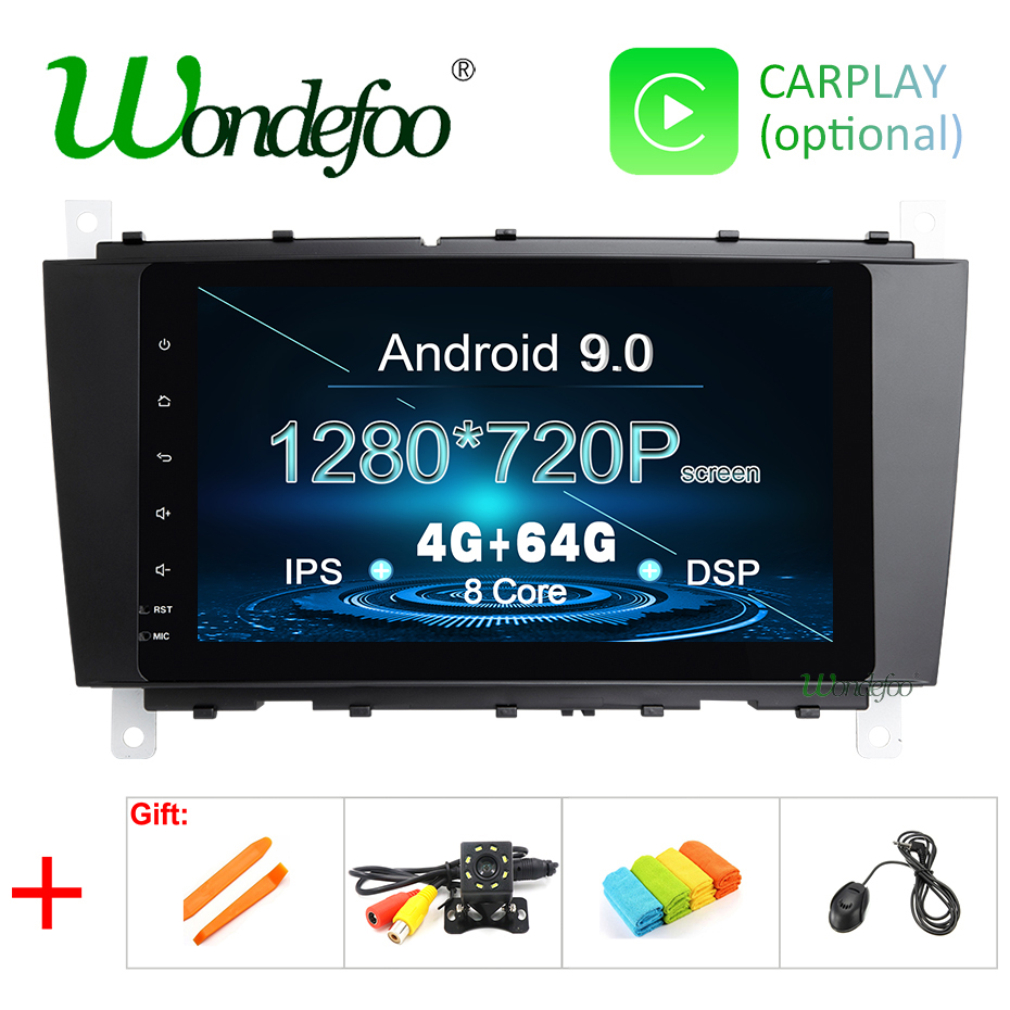 DSP Android 9.0 IPS 64G 2 DIN Car GPS For Mercedes Benz C Class W203 C200 C230 c320 CLK200 CLK350 CLK500 Multimedia Radio Screen-in Car Multimedia Player from Automobiles & Motorcycles    1