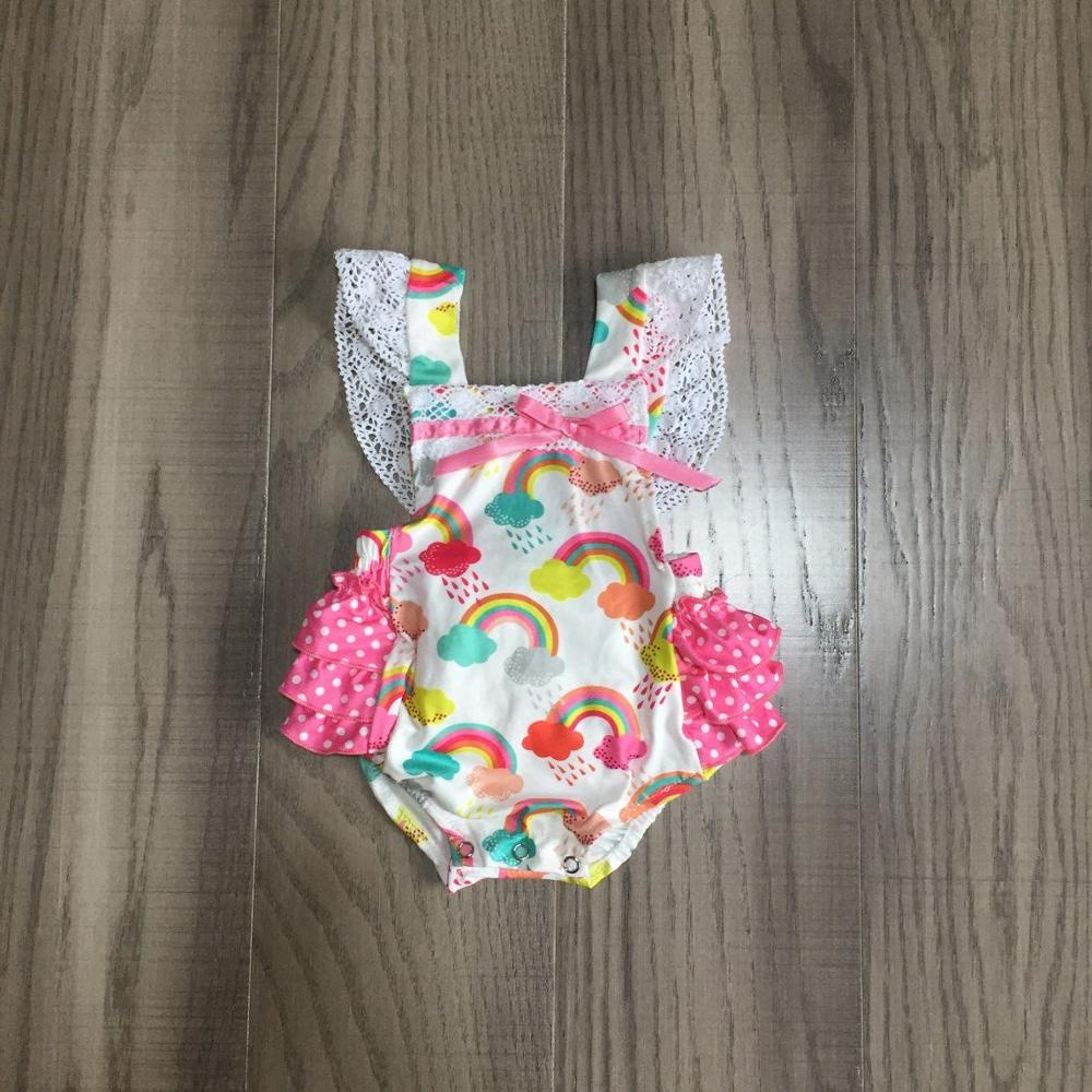 Baby Clothes Baby Rainbow Romper Infant Toddler Romper Baby Pink Romper
