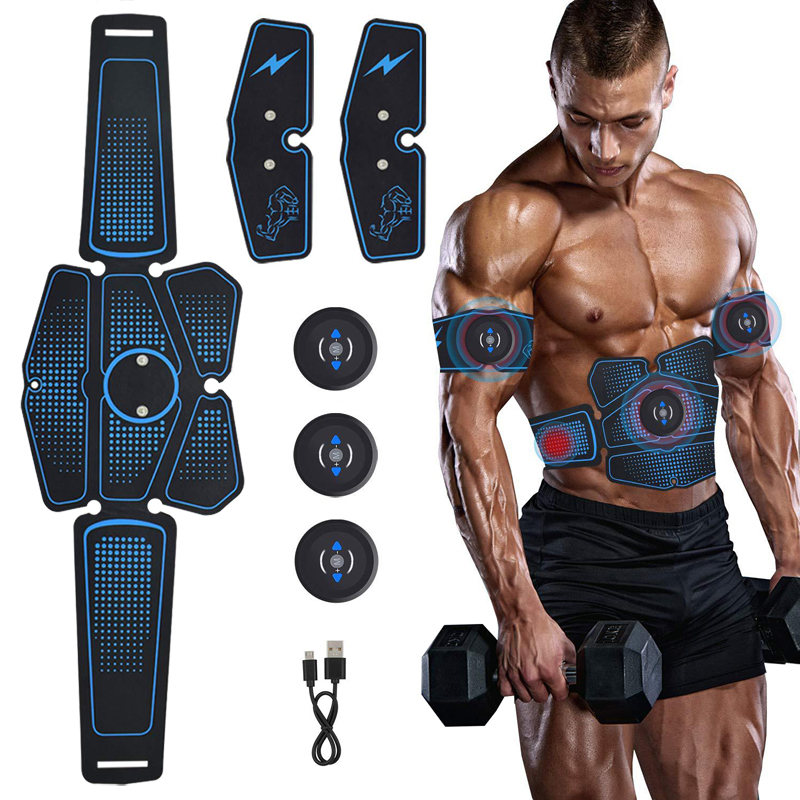 Exercise Machine Abdominal Toning Belt Vibration Abdominal Muscle Trainer Electronic Belt ABS Fitness Massage Gym Equiment image
