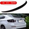 Спойлер для BMW X6 E71 спойлер из углеродного волокна для X6 2008 2009 2010 2011 2012 2013 задний спойлер для багажника