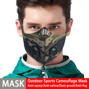DROPSHIP Sport Face Mask Activated Carbon Filter Dust Mask PM 2.5 Anti-Pollution Running Training MTB Road Bike Cycling Mask