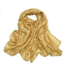 Fashion Fayx Silk Maxi Scarves Wrap Plain Muslim Hijab Heads