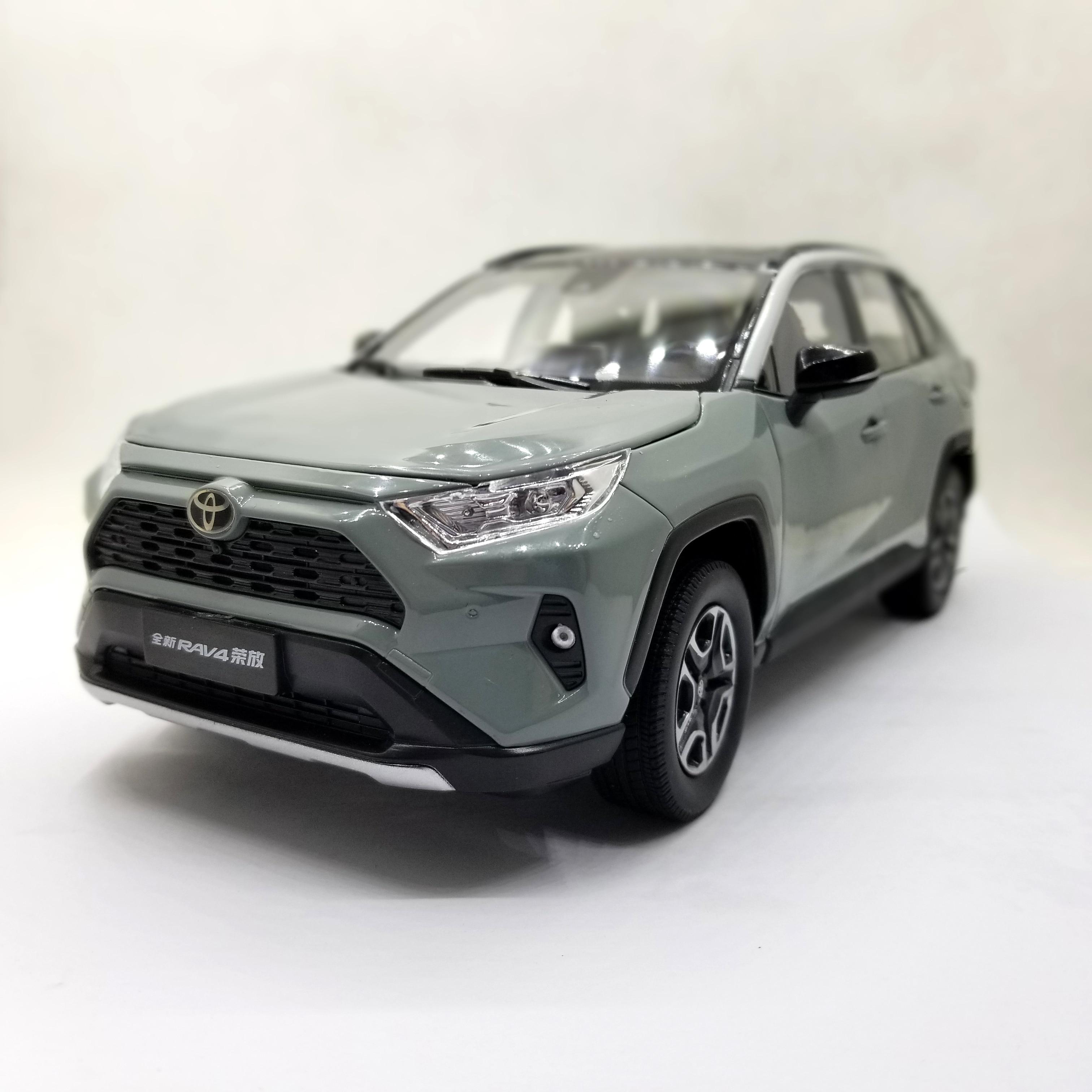 1:18 Diecast Model for Toyota RAV4 2020 Gray SUV Alloy Toy Car...