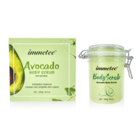 Avocado Body Scrub Exfoliating Scrub Deep Cleansing Pore Acne Treatment Exfoliating Gel Brightening Avocado Whitening Body Scrub 3