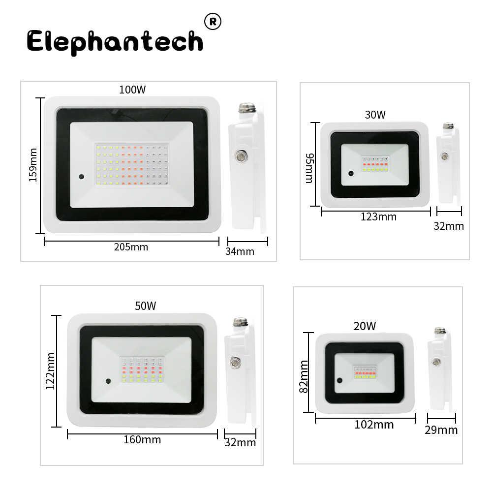 Foco Led de 20W, 30W, 50W, 100W, iluminación para exteriores, Reflector RGB, Reflector IP68 impermeable para jardín cuadrado RGB, foco 220V/110V