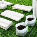100 pcs(8*10cm)Non-woven seedling bag Seed Nursery Bags Nursery Flower Pots Vegetable Transplant Breeding Pots Garden Planting B