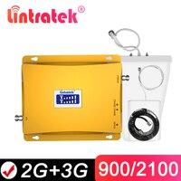 Lintratek GSM 900 3G усилитель сигнала 2G 3G GSM 900Mhz WCDMA UMTS 2100MHz мобильный ретранслятор сигнала Сотовый усилитель двухдиапазонный @ 6 4