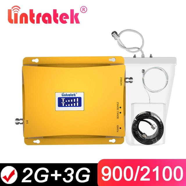 をlintratek gsm 900 3グラム信号ブースター2グラム3グラムgsm 900mhz wcdma、umts 2100mhz携帯信号リピータ携帯アンプデュアルバンド @ 6.4