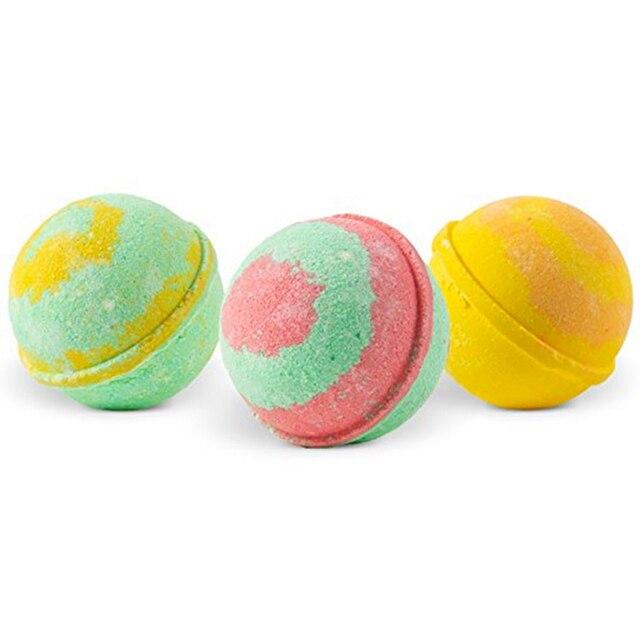 12Pcs Bubble Bath Shower Salt Ball Aromatic Moisturizing Exfoliating Skin Care 4