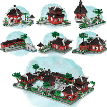 Suzhou Traditional Garden Model Set New Building Blocks 01110 Chinese Architecture Bricks Toy for Kids Funny Christmas Gifts
