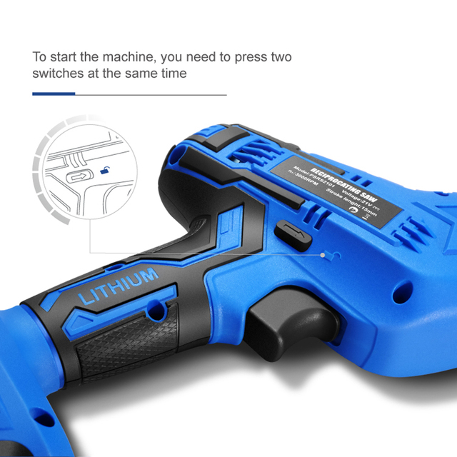 Reciprocating Saw 21V Cordless Wood Metal PVC Pipe Cutting DIY Chain Saw Power Tool by PROSTORMER 5