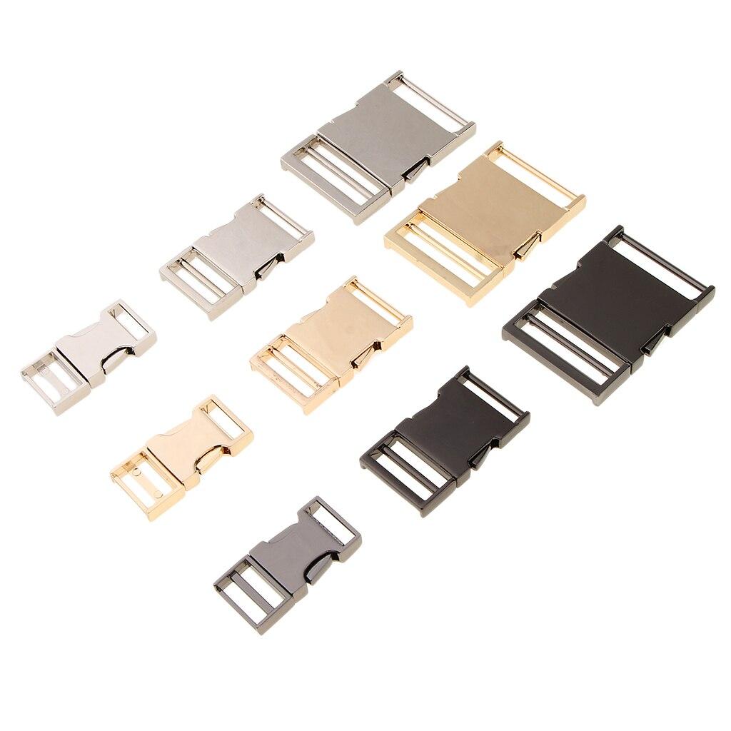 Antique Durable Metal Bag Webbing Belt Buckle Clip Clasp Hardware DIY Accessories