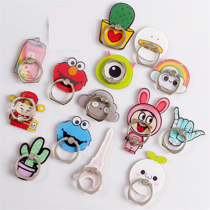 360 Degree Cartoon Boy Finger Ring Rainbow Smartphone Stand Holder Love Tower Mobile Phone Holder For IPhone Huawei All Phone