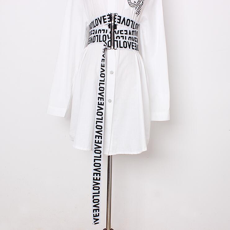 Women's Runway Fashion Letter Print Elastic Cummerbunds Female Dress Corsets Waistband Belts Decoration Wide Belt R2835