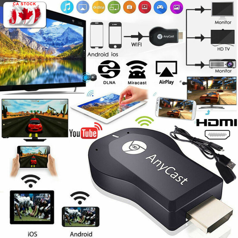 Wireless HDMI Display Receiver Chromecast Anycast Netflix M9 Plus DLNA Miracast AirPlay TV Stick Dongle Receiver For Android